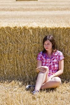 Free Young Woman In Haystack Royalty Free Stock Photo - 5844825