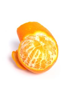 Free Organic Tangerine Peeled Stock Photography - 5845022