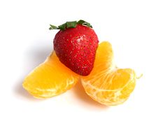 Free Organic Tangerine Segments Royalty Free Stock Image - 5845426
