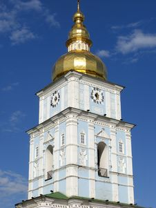 Free Bell Tower Of Saint Michael S Cathedral In Kiev Stock Photos - 5845453