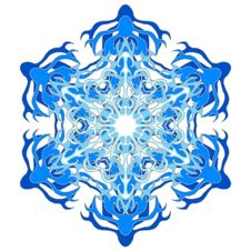 Free Big Snowflake Blue Stock Photo - 5845630