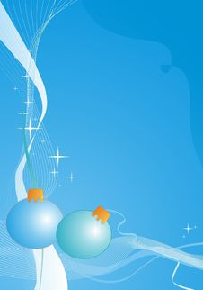 Free Blue Christmas Balls Royalty Free Stock Photo - 5845705