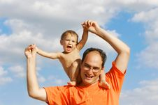Free Father And Son Royalty Free Stock Photo - 5845745