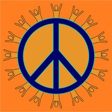 Free Orange Peaceful People Stock Photos - 5846103