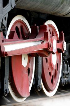 Free Wheel Of The Vapour Train Stock Photo - 5846260