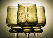 Free Three Beautiful Wine Glasses Royalty Free Stock Photos - 5846288