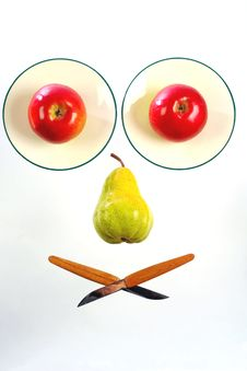 Free Pear Between Apples Stock Photo - 5846420