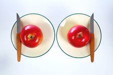 Free Apples On Plates Royalty Free Stock Photo - 5846435