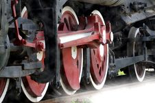 Free Wheel Of The Vapour Train. Stock Photos - 5846483