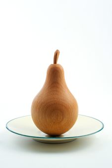 Free Wooden Pear Royalty Free Stock Photos - 5846608