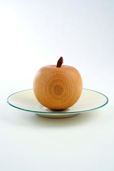 Free Wooden Apple Stock Image - 5846631