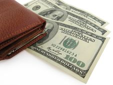 Free Purse And Dollars Stock Photos - 5846983