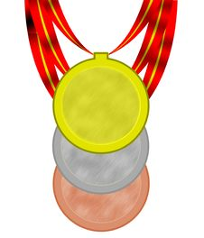 Olimpic Medals Royalty Free Stock Images
