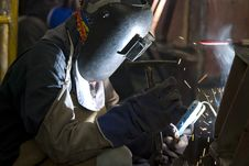 Free Welder At Work Stock Photography - 5847982