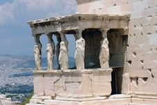 Free Temple On Top Of The Acropolis Royalty Free Stock Photos - 5848788