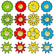 Free Happy Flower Icons Royalty Free Stock Image - 5848846