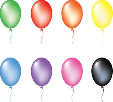 Free Color Balloons Royalty Free Stock Photography - 5848887