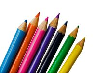 Free Set Of Color Pencils Stock Images - 5849384