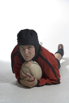 Free Man In Rugby Outfit - Vertical Stock Image - 5849861