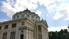 The Bucharest Athenaeum Concert Hall Royalty Free Stock Photo