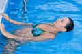 Free A Beautiful Woman Relaxing In The Pool Royalty Free Stock Photo - 5852535