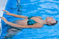 Free A Beautiful Woman Relaxing In The Pool Stock Photos - 5852593