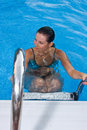 Free A Beautiful Woman Relaxing In The Pool Stock Photo - 5856560