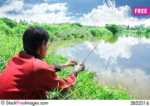 Free Fishing Outdoor Hobby Activity Royalty Free Stock Image - 5852016