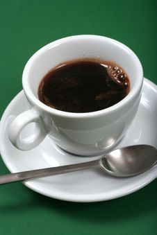 Free Coffee On Green Background Stock Image - 5850071
