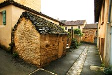 Free Small Street And Shed In French Village Royalty Free Stock Photos - 5850328