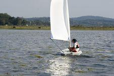 Free Couple Sailing On Lake - Horizontal Royalty Free Stock Photo - 5850595