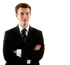 Young Handsome Businessman Royalty Free Stock Image