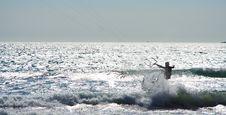 Free Kitesurfer And Waves Royalty Free Stock Photos - 5851148
