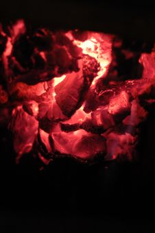 Free Live Coals Royalty Free Stock Photo - 5851245