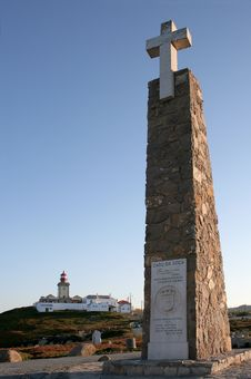 Monument At Cabo Da Roca Stock Images