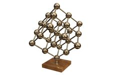 Free Business Desk Souvenir - Atom Cube Isolated On Whi Royalty Free Stock Photo - 5851475
