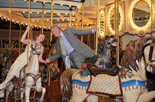 Merry-Go-Round Romance Royalty Free Stock Photos
