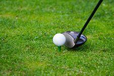 Free Golf Teeing Stock Image - 5852001