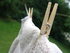 Free Clothes Pins On Line Stock Photography - 5852142