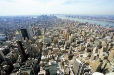 Free Manhattan Skyline Royalty Free Stock Photography - 5852147