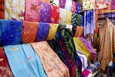 Free Colourful Fabrics For Sale Royalty Free Stock Images - 5852369