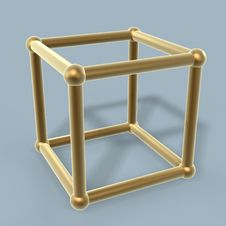 Cube Frame Link Stock Photo