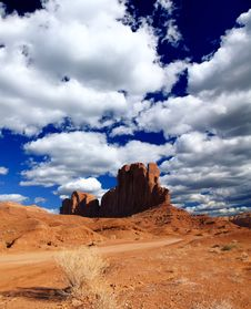 Free The Monument Valley Navajo Tribal Park Stock Photography - 5852952