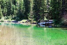 Pond In Kananaskis Area Royalty Free Stock Image