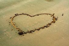 Free Heart Shape On Sand Stock Photos - 5853653