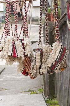 Traditional Romanian Bags Royalty Free Stock Photography