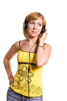 Free Young Woman Listening To The Music Royalty Free Stock Image - 5854496