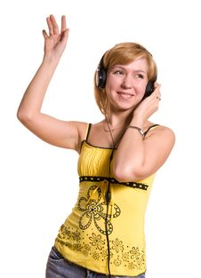 Free Young Woman Listening To The Music Royalty Free Stock Photos - 5854498