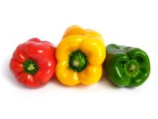 Free Three Color Peppers Royalty Free Stock Photo - 5854655