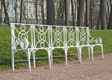 White Garden Bench Stock Image